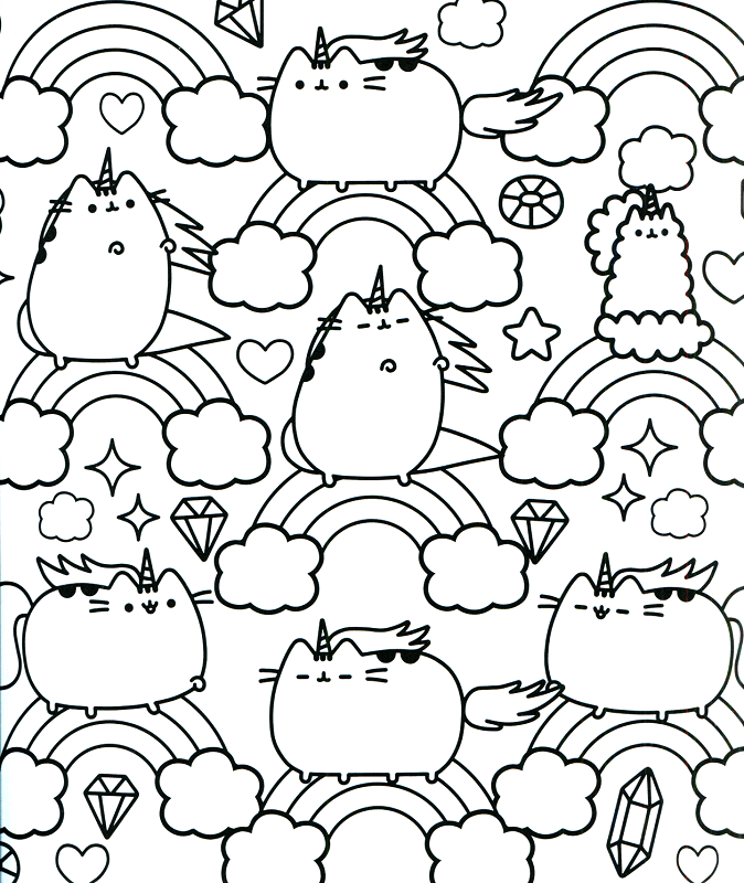 Pusheen Unicorn Coloring Pages Lol Coloring Pages Pusheen