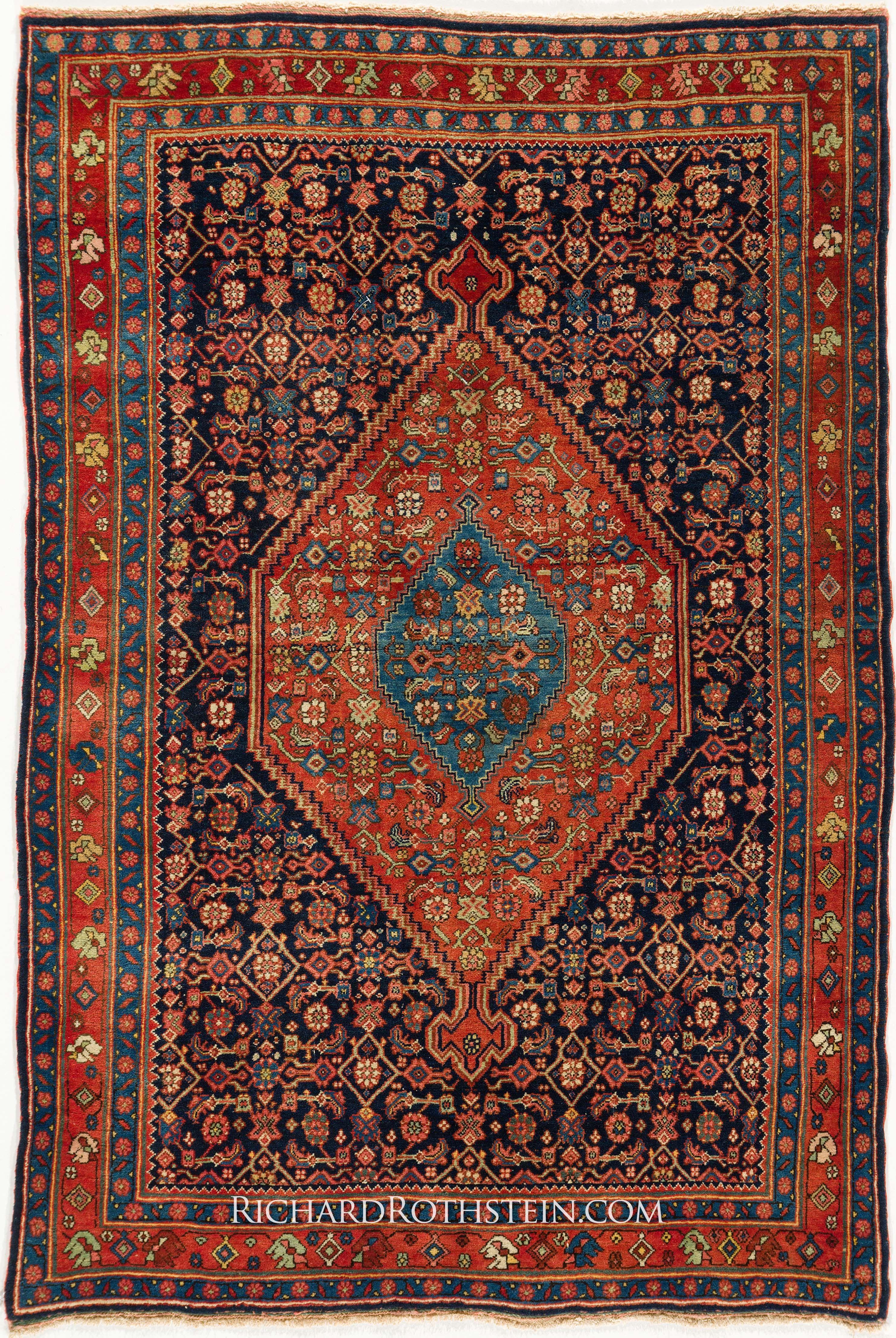 Antique Bidjar Persian Rug Pinteres