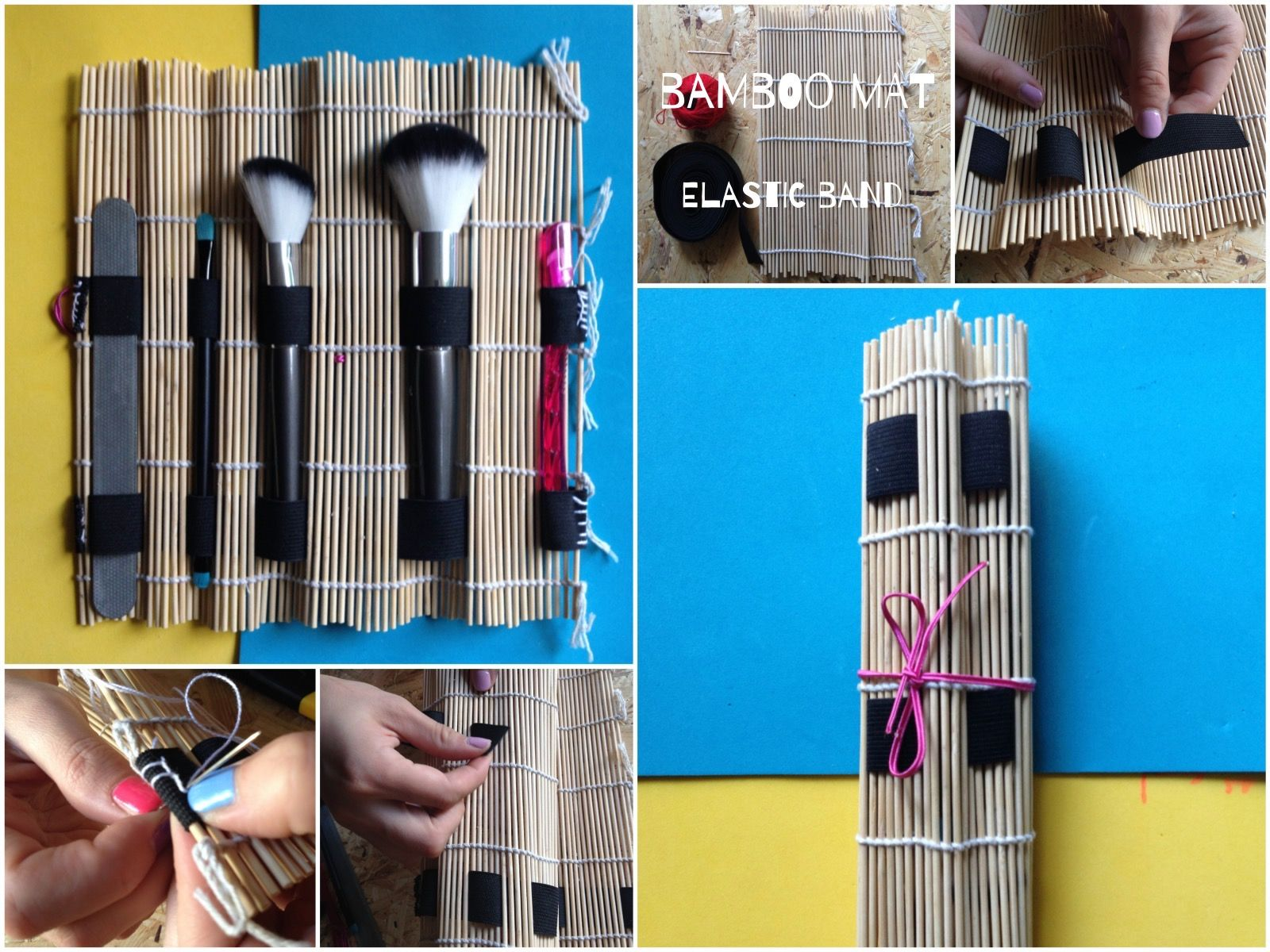 Majsterki Makeup Brush Roll from a Sushi Mat handygirls