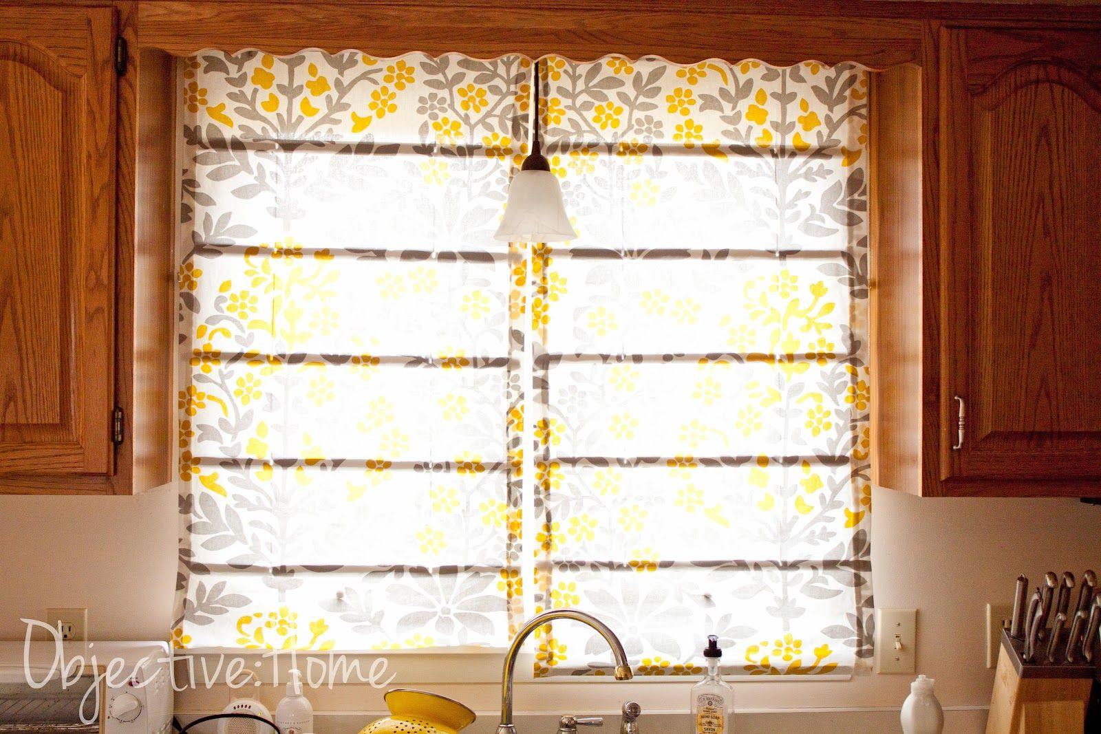 objective:home: Easy, NO Sew Roman Shades (for $4.50!)
