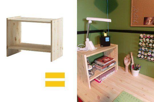 Attractive 5 Easy One Step IKEA Hacks For More Desktop Storage