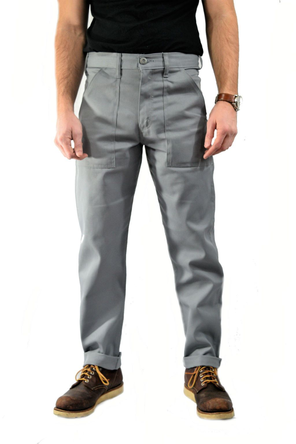 SLIM 4 POCKET FATIGUE PANTS - PRISON GREY