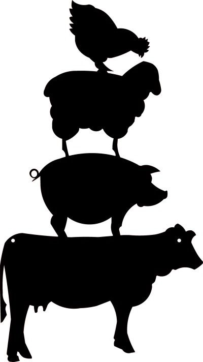 Animal Stack From Dragonfly Metals Pig Silhouette Silhouette Clip Art Animal Silhouette