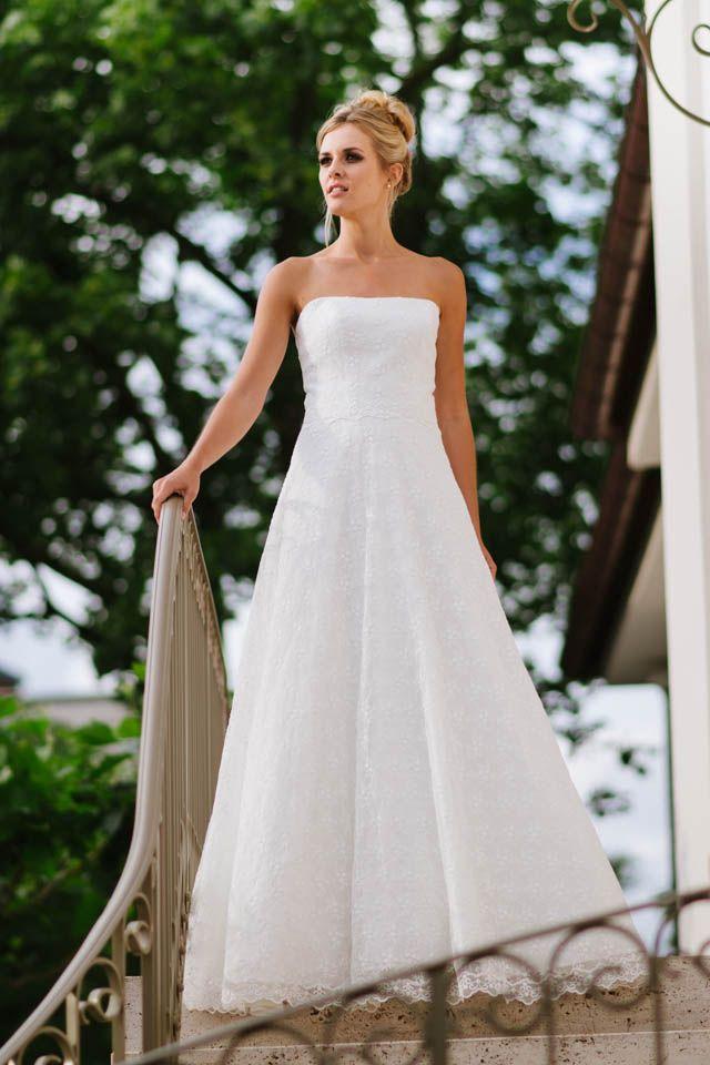 Hochzeitskleid trägerlos - das ist unsere Sue mit toller ...
