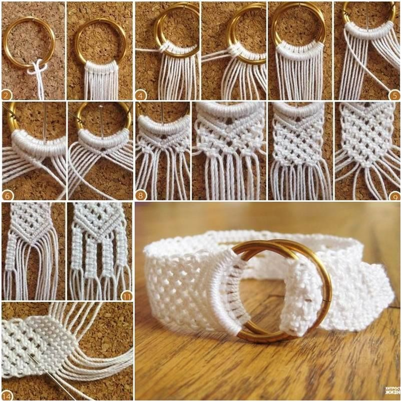How To Diy Two Ring Closure Macrame Belt Tutorial Macrame