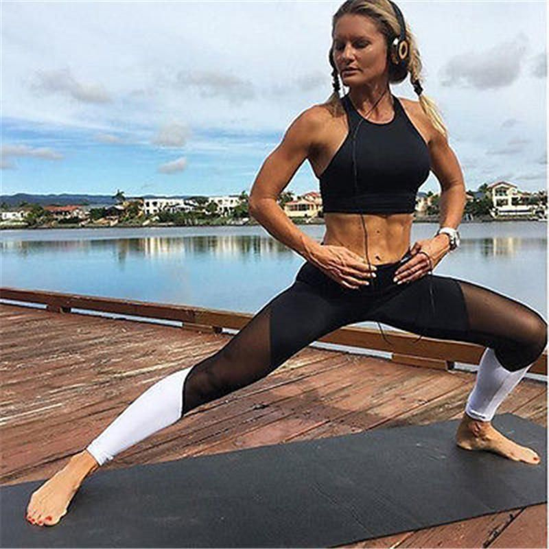 a0c55f3d51c08 New Fashion Women Sexy Exercise Legging Pants Fitness Workout Sport wear