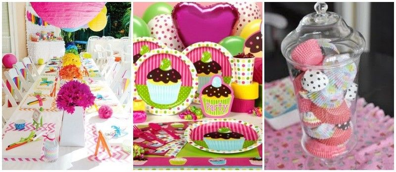 Decorar mesa de la merienda en cumpleanos de cupcakes - Decoracion mesa cumpleanos ...
