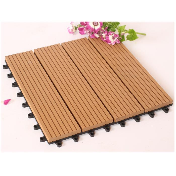 Easy To Install Diy Decking Modular Composite Wood Deck Tiles