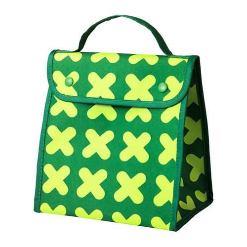 IKEA - ERFORDERLIG, Lunch bag, Foldable, which makes it easy to store.Perfect for bringing food from home to work or school, thanks to the practical handle and flat base.