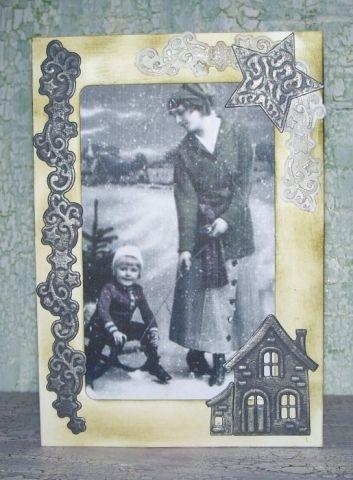 Weihnachtliche Vintagekarten Bastelanleitungen Rezepte Und Mehr