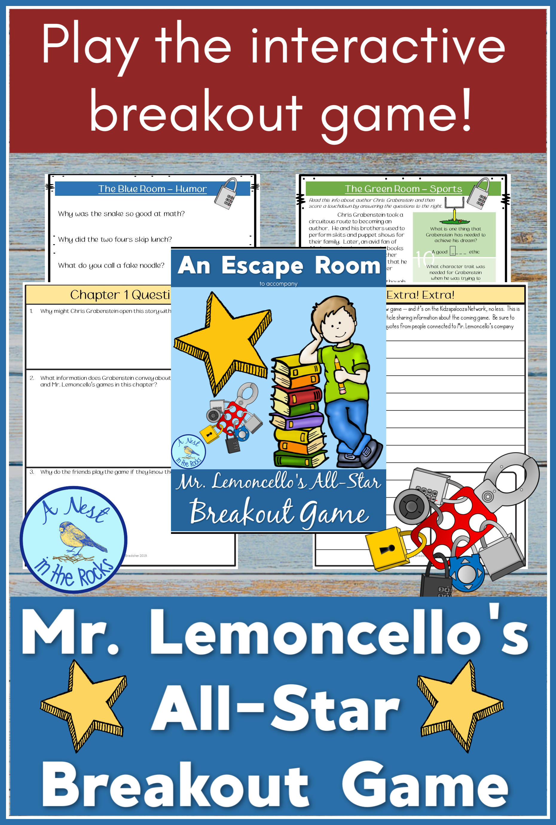 Ela Resources An Escape Room For Mr Lemoncello S All