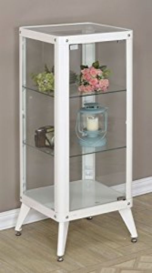 Fresh Tall Curio Cabinet with Glass Doors