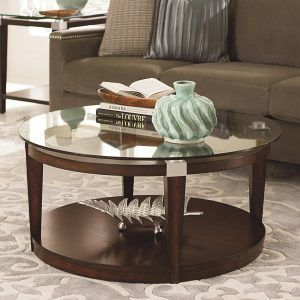 Round Glass Coffee Table Pottery Barn