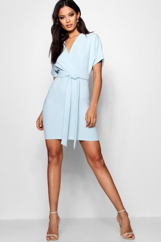 0e01c918ab9c Wrap Over Belted Dress - boohoo party dress