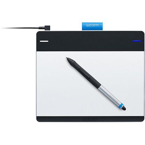 Mesa Digitalizadora Intuos PEN Small CTL480L, 2.540 lpi, USB, Precisão caneta : +/- 0.5 mm, Cor Prata e Preta