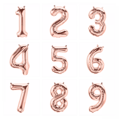 Rose Gold Number Balloons Copper Balloons Luxury Balloon Shop The Original Party Rose Gold Number Balloons Gold Number Balloons Rose Gold Letter Balloons