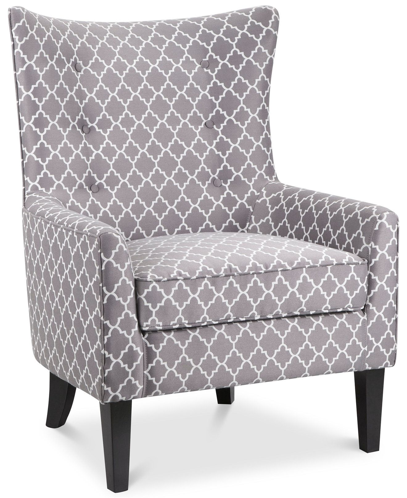 Brie Printed Fabric Accent Chair Cocinas Integrales De Madera