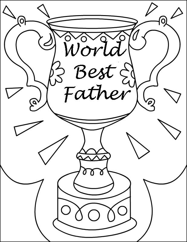 Beloved Fathers Trophy For Fathers Day Coloring Pages