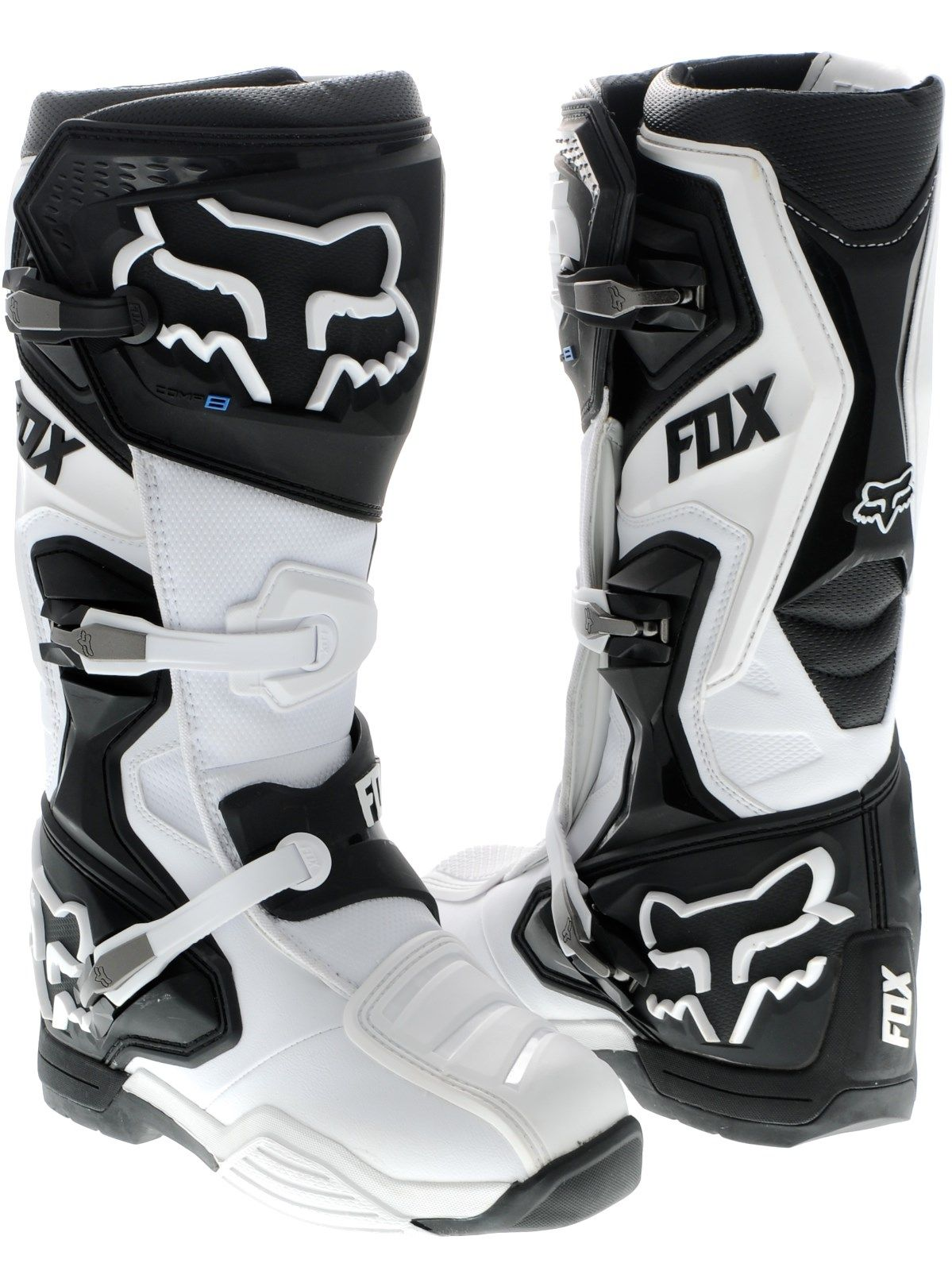 Fox White 2017 Comp 8 MX Boot | Fox | FreestyleXtreme | UK
