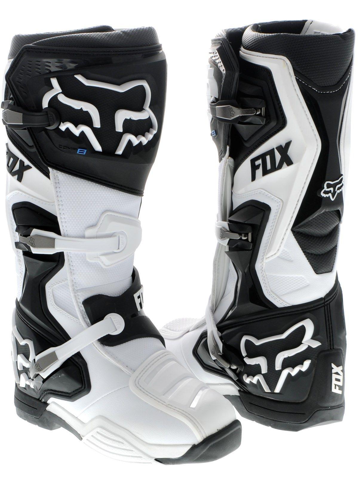 Fox White Comp 8 MX Boot Fox FreestyleXtreme Mx