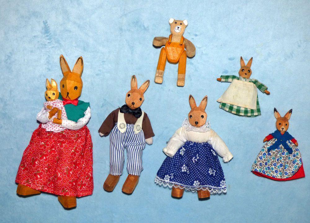 Osterhasen Figuren Sammlung 5 Stück Hasen Familie Ostern Lotte ...