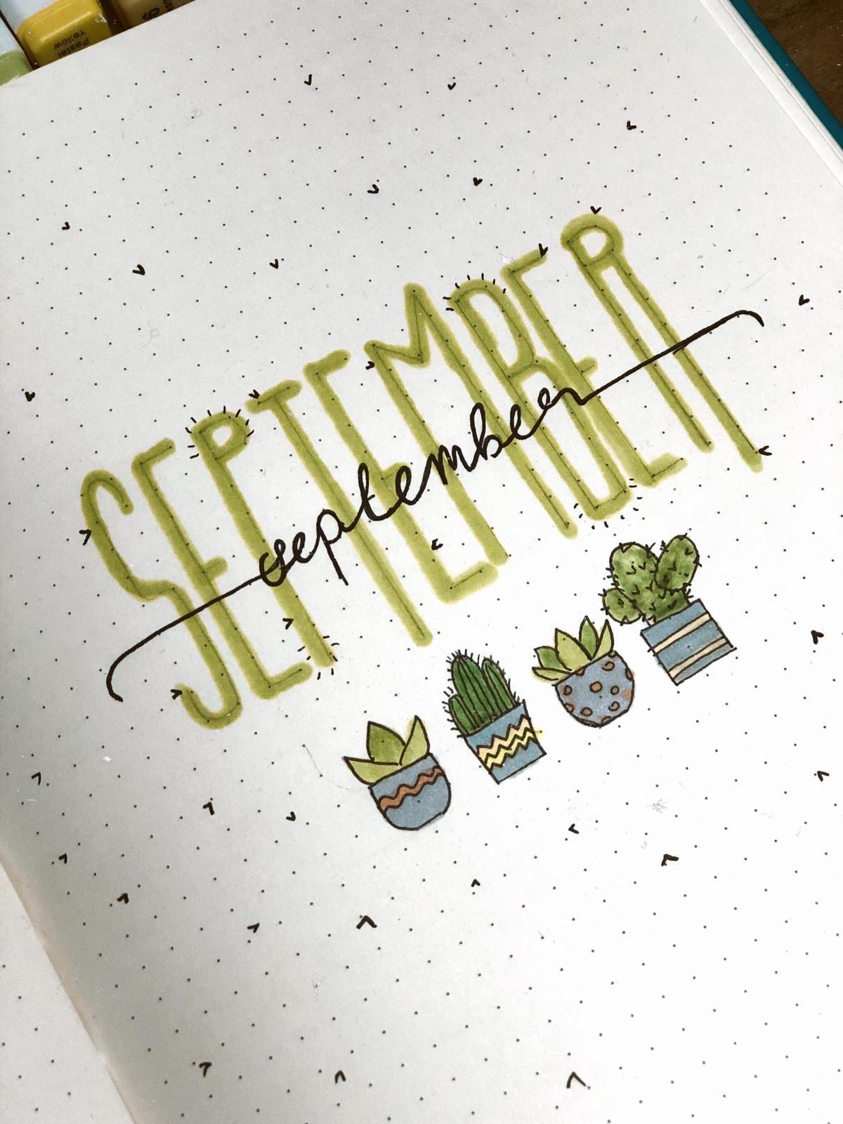 2020 September Bullet Journal Main Page Design