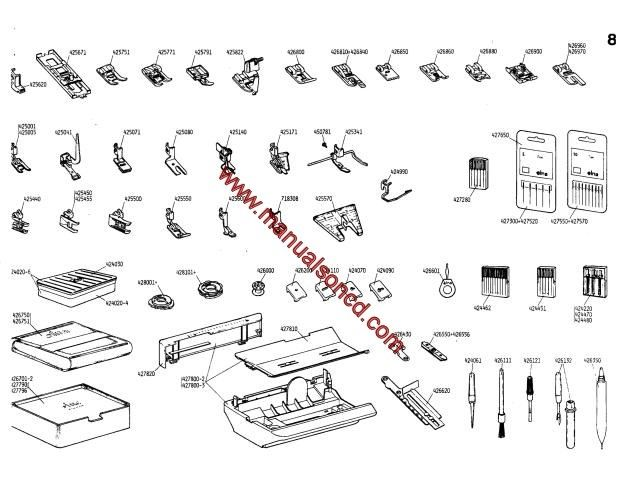 Elna Carina Electronic-Elna 500 Electronic Parts Manual