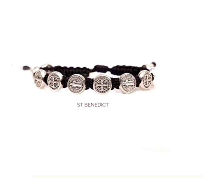 St Benedict Bracelet, Saint Bracelet, St Benedict, Saint medals