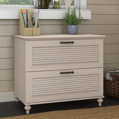 2 Drawer Fairview File Cabinet Antique White Bush Furniture In 2020 Craft Storage Ideas For Small Spaces Filing Cabinet Furniture