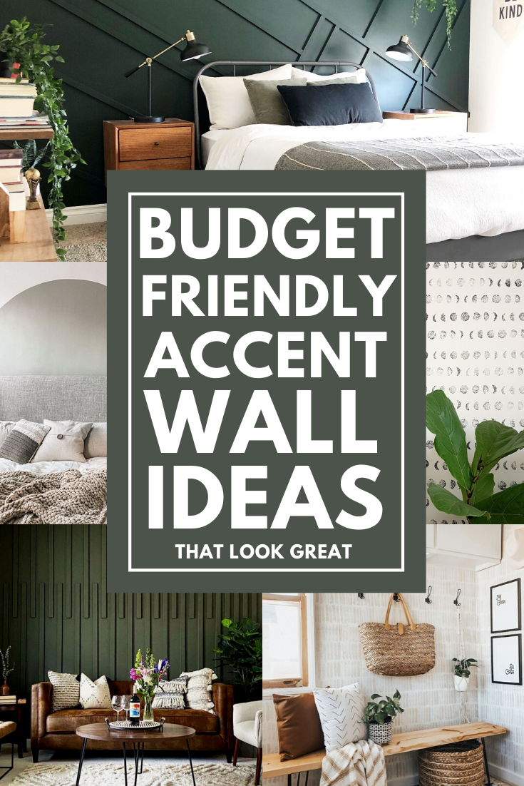 Budget Friendly DIY Accent Wall Ideas in 2020   Diy accent ...