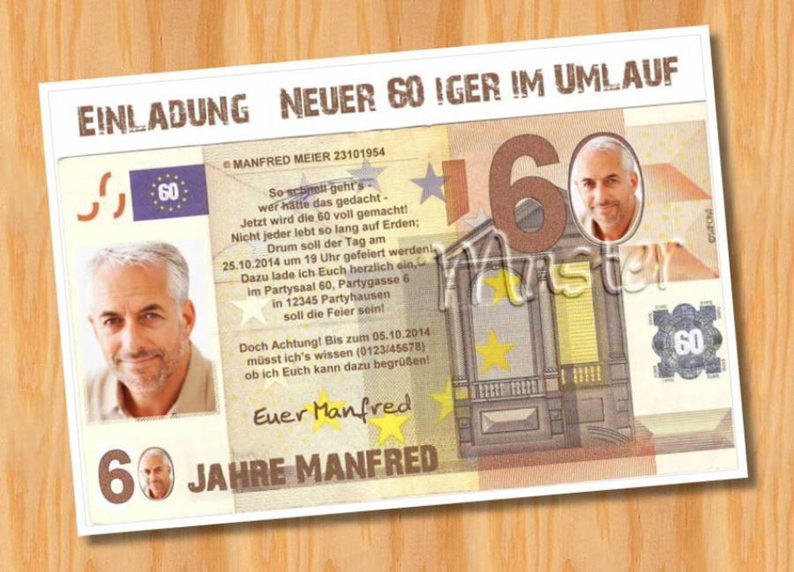 Einladungen 60 Geburtstag Vorlagen Kostenlos