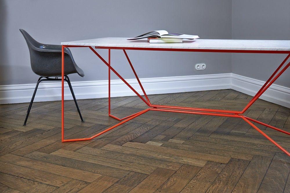 Schreibtisch Esstisch Victor Foxtrot Gestell Stahl