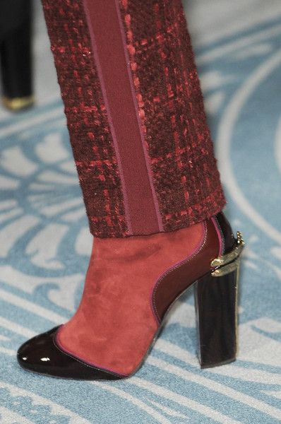 Tory Burch Red Suede and Black Patent Bootie - Fall 2013