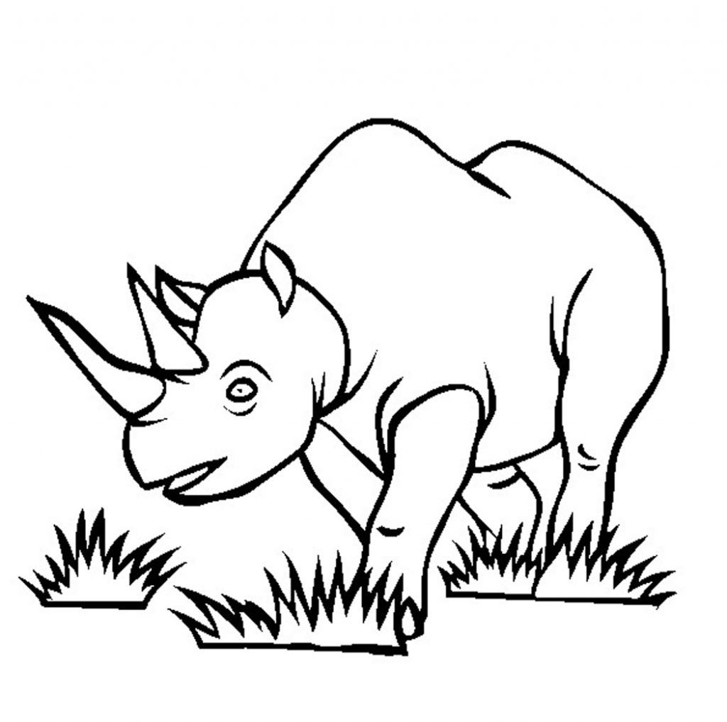 Free Printable Rhinoceros Coloring Pages For Kids Toy Story