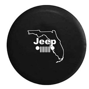 Jeep Grille State Of Florida Spare Tire Cover Jeep Tire Cover Tire Cover Jeep Wheel Covers