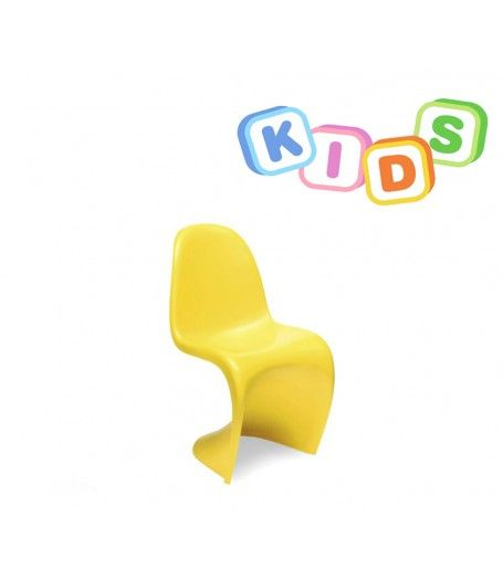 Childrens Verner Panton Style Chair   Yellow