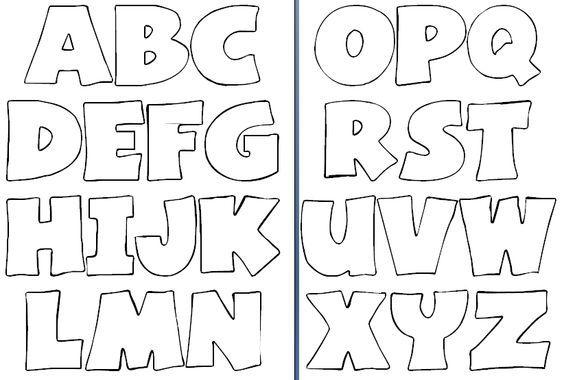 Molde De Letras Para Imprimir Y Recortar Imagui Plantillas De Letras Moldes De Letras Modelos De Letras
