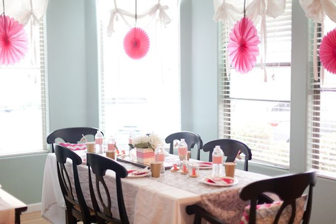Hot Pink Chevron + Ombre Bridal Shower!