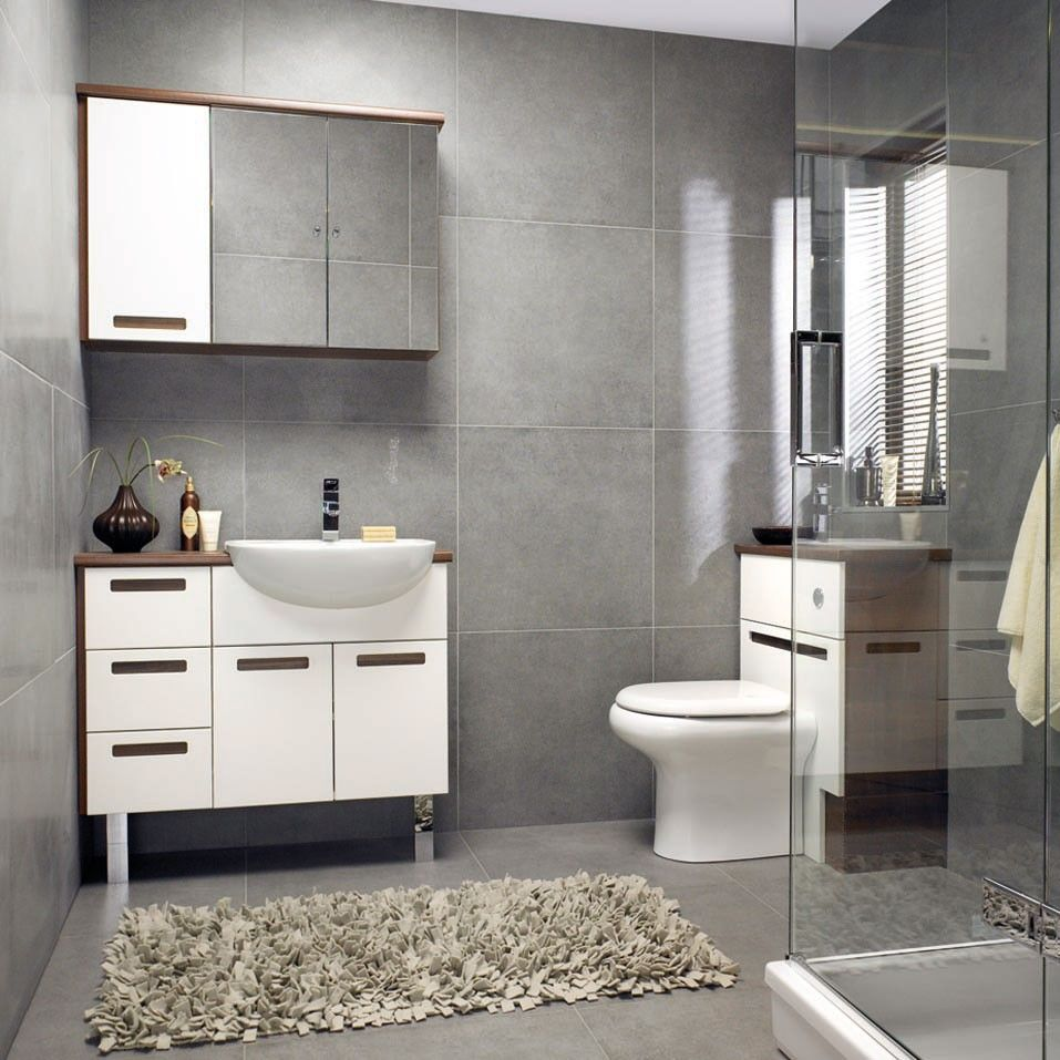 Square Grey Bathroom Tiles Guest Bath Ideas Pinterest