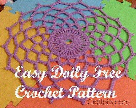 Easy Crochet Doily Easy Crochet Crochet Doilies And Crochet