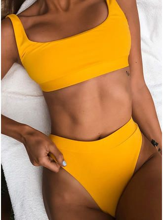 VERYVOGA Taille Haute Jambe haute À Bretelles Sexy Bikinis Maillots De Bain – Blanc