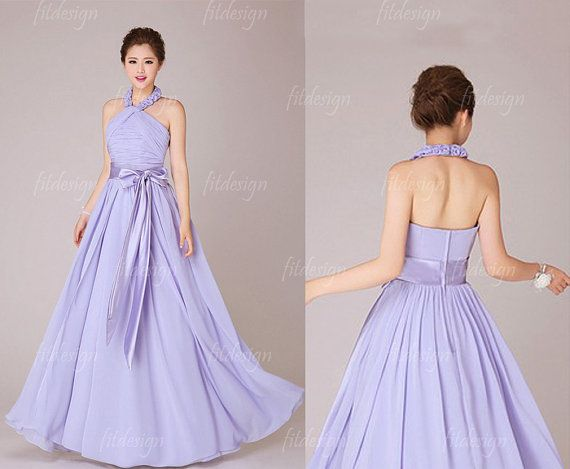 halter bridesmaid dress purple bridesmaid dress by fitdesign, $119.00