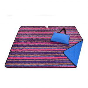 La Plage 100 Cotton Fringe Striped Beach Picnic Blanket Pink Yellow Roll N Go 60 X 60 Cotton Beach Blanket Pink Yellow Bright Stripes