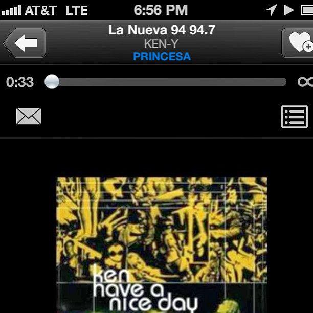 Sonando duro!!!! #princesa vía @RaphyPina-PinaRecord por La nueva 94 !!! #TheKingOfRomance #pronto