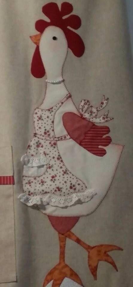 Avental galinha | Patchwork...roupas e apliquè! | Pinterest ...