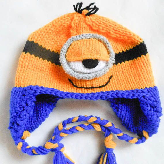 Knitting Pattern Minion Hat Pattern Minion Hat Animal Hat Minion