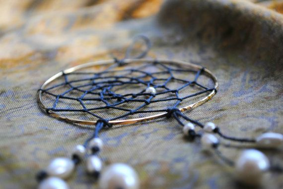 Golden Pearl Bracelet Dreamcatcher