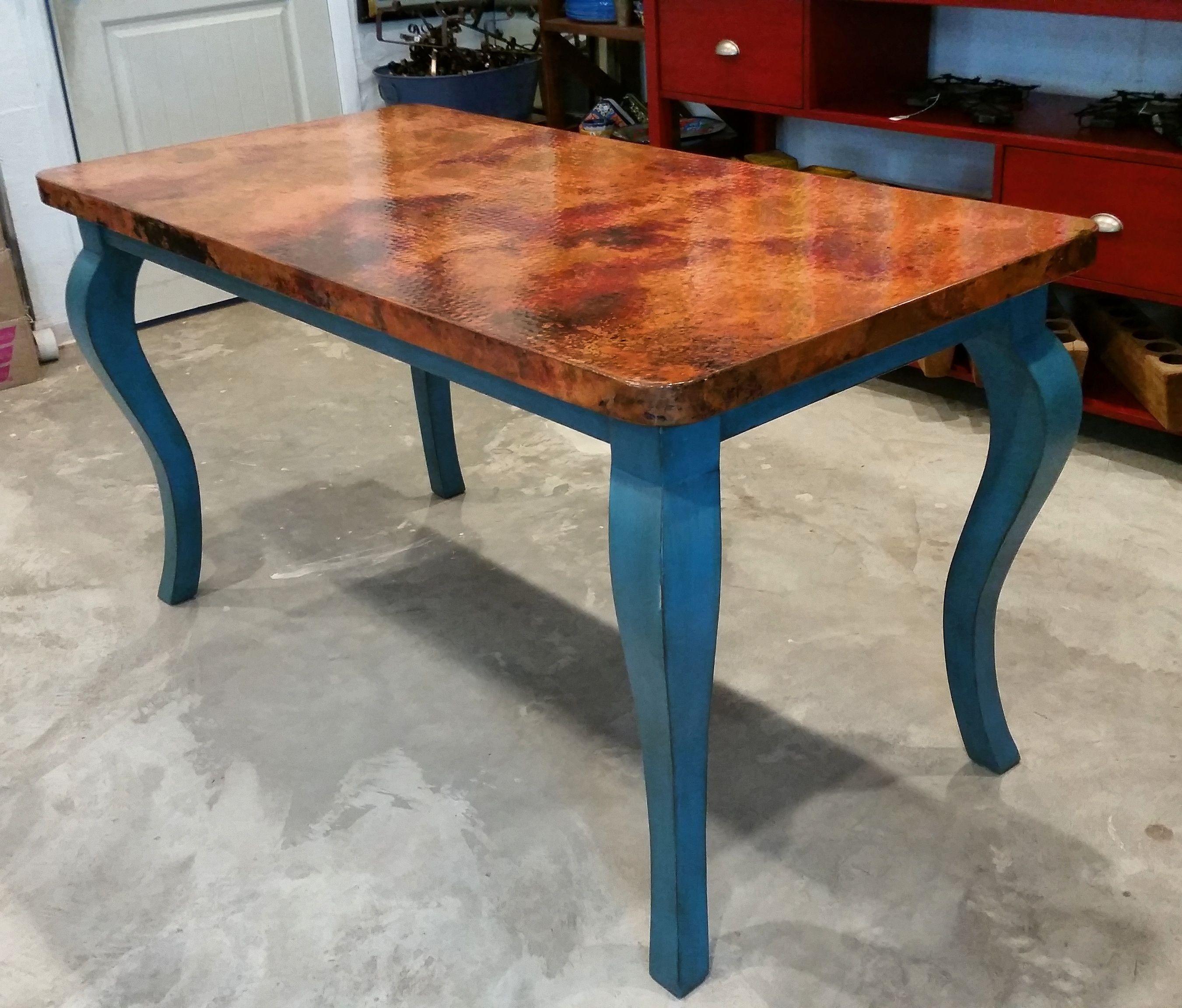 Custom Breakfast Copper Top Table De Barrio Antiguo In Houston