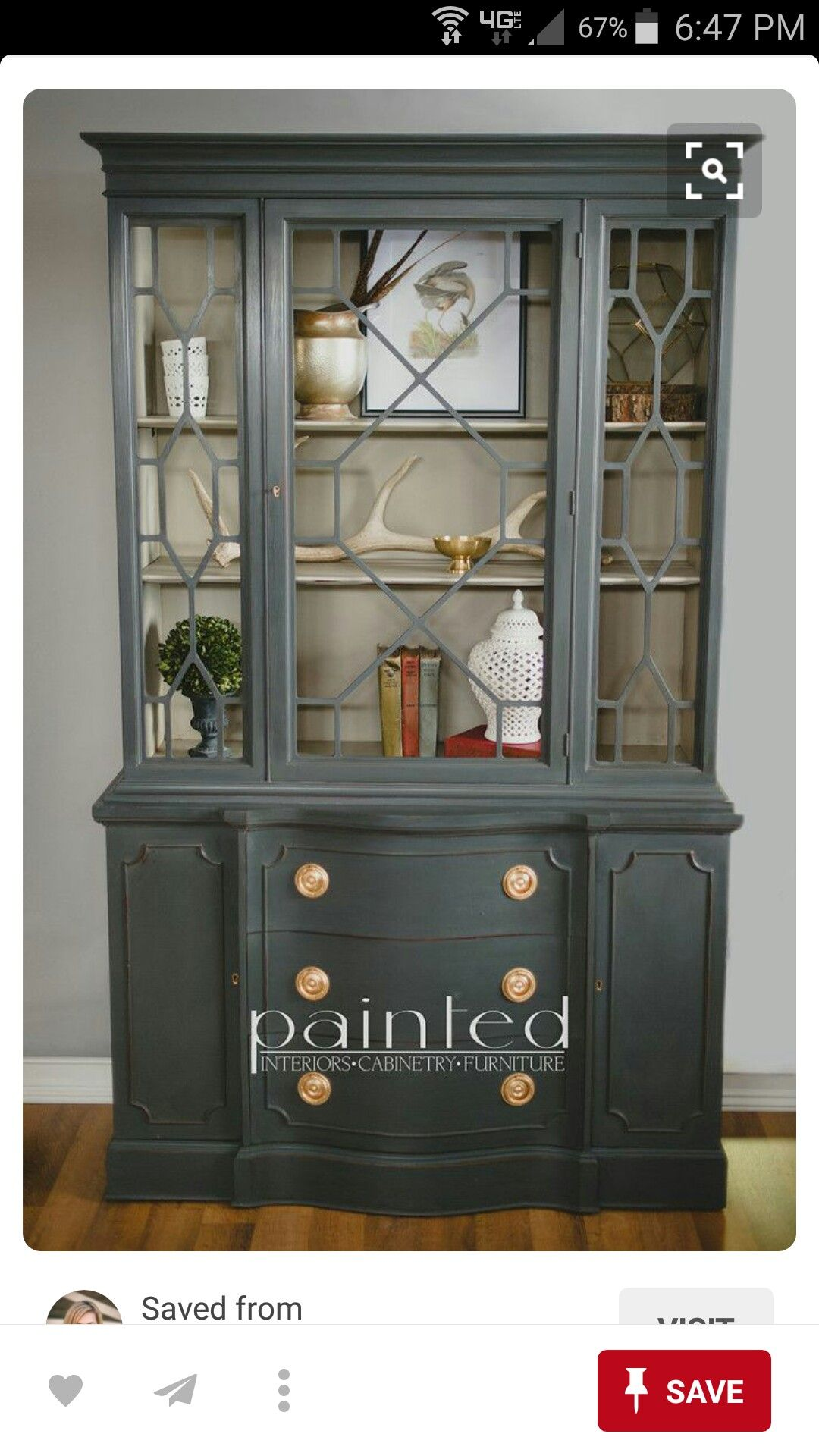 Pin By Natalie Neill On Decorating Ideas Painted China Cabinets Antique China Cabinets Painted Furniture