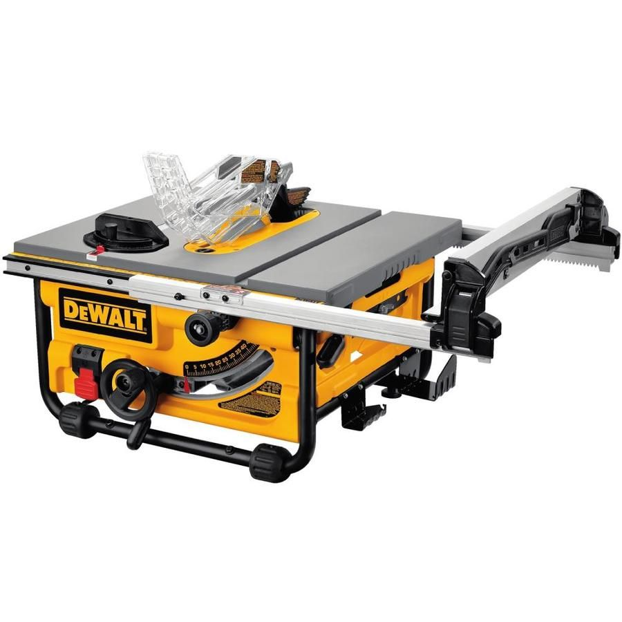 Dewalt 10 In Carbide Tipped Blade 15 Amp Table Saw In 2020 Best Table Saw Jobsite Table Saw Table Saw